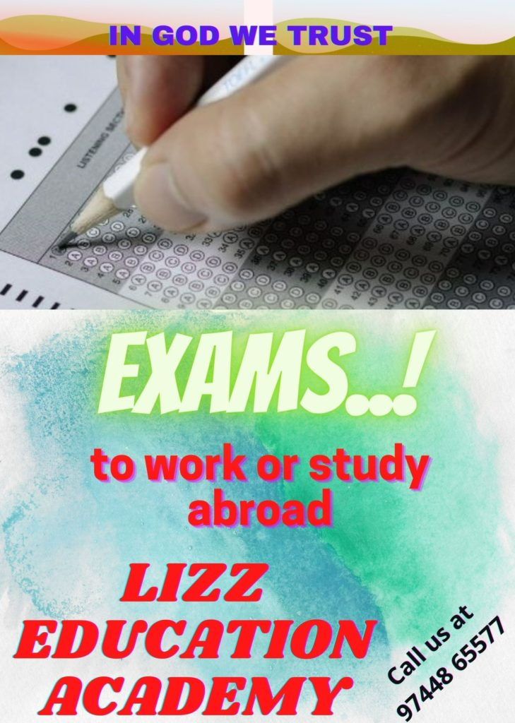 Examinations to work or study abroad